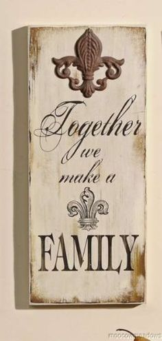 New Fleur de Lis Family Plaque French Country Wall Decor Accent Picture Art | eBay