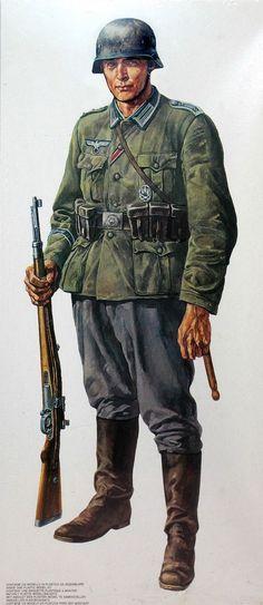 tysk soldat fra staten af krigen 1939-43