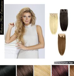 """20"""" (50cm) long TRIPLE WEFTED 180g. Full Head Clip In Human Hair Extensions"""