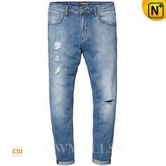 061fc34bec14e CWMALLS® Men s Skinny Ripped Jeans CW107020