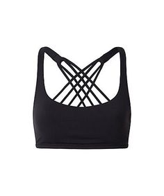 3498c0b5ff JNC Cute Criss Cross Black Yoga Bras Padded Push up Women Gym Activewear Top  Light Support Wirefree Cool-look Fitness Sports Bra - TakoFashion - Women s  ...