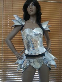 NEW Samba Mirror Corset Costume Outfits Brazilian Carnival Lady Gaga Robot | eBay