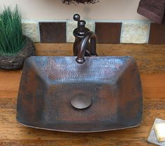 Shop now for Top Quality copper kitchen sinks, copper bath sinks, copper bar sinks & copper tile. Your custom copper sink sold direct to you. Copper Vessel Sinks, Copper Bath, Bathroom Inspiration, Interior Inspiration, Upstairs Bathrooms, Cabins And Cottages, Bathroom Styling, The Ranch, Home Improvement