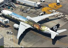 Aviation Photo Boeing - Air New Zealand Boeing Aircraft, Boeing 777, Airplane Art, Airplane Design, Air New Zealand, Aircraft Painting, Commercial Aircraft, Aircraft Pictures, Nose Art