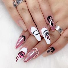 Bold Nail Designs With Sexy Lips picture 3