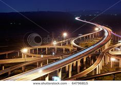 Night Time Cars on Highway