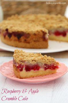 Raspberry & Apple Crumble Cake - Bake Play Smile                                                                                                                                                      More