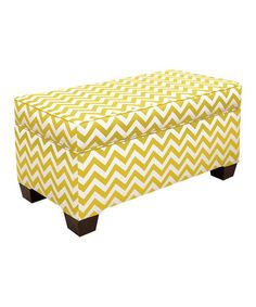 Take a look at this Yellow Zigzag Storage Bench by Brighten Up: Home Décor on #zulily today!