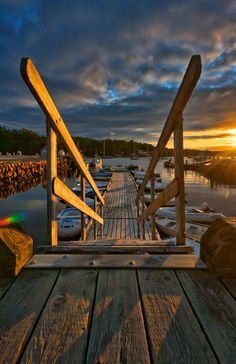 Sunrise over Mahone Bay, Nova Scotia