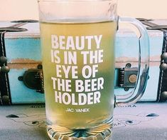 The Eye Of Beer Holder Glass