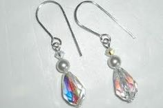 Earrings  Swarovski Crystal Teardrops   by Makewithlovecrafts