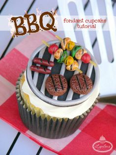 Summertime Sizzlin' Barbecue Cupcake Tutorial