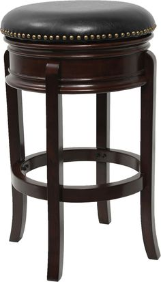 24'' Backless Cappuccino Wood Counter Height Stool with Black Leather Swivel Seat http://www.cccstores.com/counter-stool-ta-68824-ca-ctr.html #twentyfour #inch #furniture #company