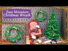 Miniature Christmas Wreath Tutorial | Creating Dollhouse Miniatures | Bloglovin'