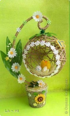 Craft Product March Easter Simulation Design Soon Easter 2 Twine Photo Source by Easter Crafts, Christmas Crafts, Diy And Crafts, Craft Projects, Crafts For Kids, Arts And Crafts, Christmas Ornaments, Easter Decor, Art N Craft