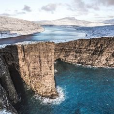 Hey everyone @gullerpat here. With @cosmokoala we had the chance to explore the Faroe Islands during 4 days in January and we really had a lot of fun doing it. The place that impressed myself the most was Sørvágsvatn where the ocean a lake and cliffs meet together. We'll post more picture during our takeover week be ready to see some awesome landscapes! by visitfaroeislands