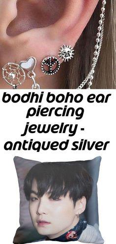 Bodhi boho ear piercing jewelry - antiqued silver 4 pieces earring set – mybodiart 1 - #antiqued #Bodhi #Boho #Ear #Earring #jewelry #MyBodiArt #Pieces #Piercing #Set #Silver - #EarPiercings Girls Earrings, Women's Earrings, Antique Silver, Antique Jewelry, Ear Piercings Cartilage, Fine Hair, Earring Set, Boho, Antiques