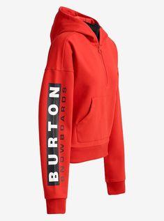 0900b1ca153cc Women's Off-White™ x Burton x Vogue Selby Fleece Pullover Hoodie shown in  Fiery