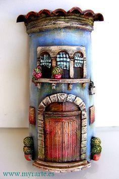 tejas decoradas con porcelana fria - Buscar con Google