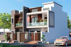 Modern Bungalow Exterior, Modern Exterior House Designs, Modern House Facades, Latest House Designs, Modern House Design, Classic House Design, Duplex House Design, Townhouse Designs, House Front Design