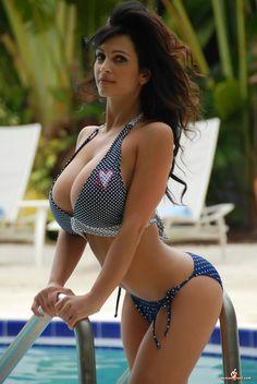 Embarrassed bikini beach naked