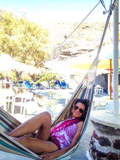 #beach #hammock  #santorini