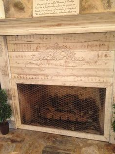 Turn a garden-gate into a cool fireplace screen- with or without ...