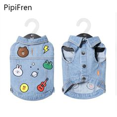 PipiFren Dogs Clothes Summer T Shirts Vests French Bulldog For Pet Costume Colorful Small Dog Shirts Spring Cowboy Manteau chien Dog Vest, Dog Jacket, Dog Shirt, Small Dog Clothes, Puppy Clothes, French Bulldog Clothes, Super Cute Dogs, Cute Bulldogs, Dog Winter Coat