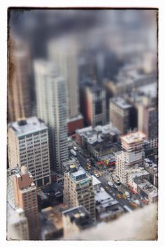 NYC - Tilt-Shift from the ESB
