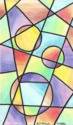 Ma participation au Art journal et gribouillages de Jijihook #74. Thème : Vitrail. Pas très inspirée par ce thème, du coup, j'ai juste fait un travail sur la couleur.