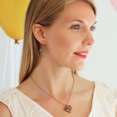 Michal Golan :: SHOP BY COLLECTION :: Confetti Heart Necklace