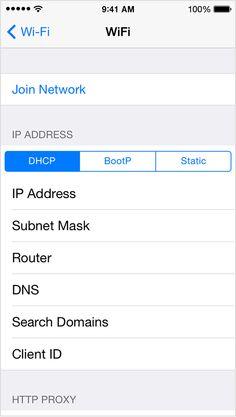 Opción Acceder a la red en la pantalla Wi-Fi.