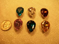 Large Faceted Assorted Crystal Tear Drop Sew by TheEiffelTeaRoom, $5.99