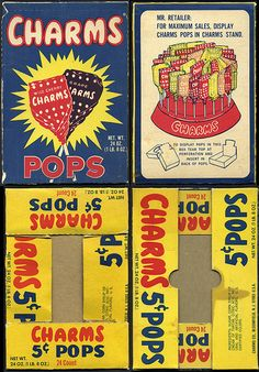 Charms Pops candy display box - 1970's by JasonLiebig, via Flickr