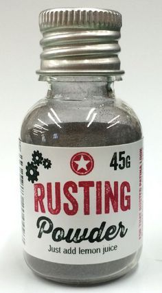 PaperArtsy Rusting Powder Rusting Powder allows the creation of almost instant rust effect on fabric paper and many surfaces Use an acrylic wax craft adhesive or other medium