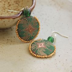 Fabric earrings.