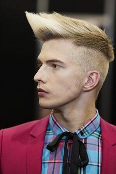 Errol Douglas - short blonde straight hair styles (12954)