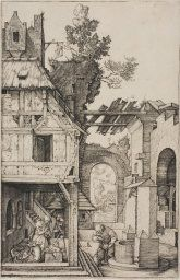Albrecht Dürer German, 1471-1528  Nativity, 1504  Engraving on ivory laid paper