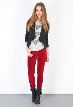 Siwy Hannah Slim Crop Jean in Ruby Hubby  $99