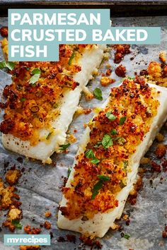 Seafood Dishes, Fish And Seafood, Seafood Recipes, Tilapia Fish Recipes, Kitchen Recipes, Cooking Recipes, Parmesan Crusted Fish, Baked Haddock, Haddock Recipes