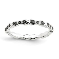 Zales Stackable Expressions Garnet Twist Eternity Style Ring in Sterling Silver MBAZPMe0