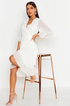 White Satin Dress, White Wrap Dress, White Midi Dress, Satin Dresses, Prom Dresses, Wrap Dress Midi, Chiffon Dress, Dress Up, Costume