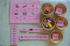 Montessori Language Pink Series Phonics Educational by Papyruswork, $55.00