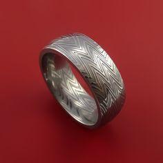 Damascus Steel Ring Stripe Pattern Wedding Band Zebra Look – Stonebrook Jewelry