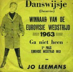 """Jo Leemans - """"Danswijsje"""", flemish cover version of the winning song Eurovision Song Contest 1963 (and """"Ga niet heen"""", flemish version of """"T´en va pas"""")"""