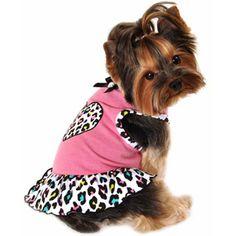 Simply Dog Pink Multi Cheetah Heart  Dress  #FragranceNetFavorites