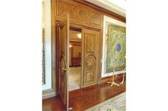 Lot 32 - A pair of ornate carved panel doors complete with bronze ironmongery each door 860mm wide x 2330mm