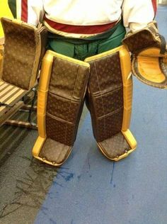 So is Louis Vuitton making goalie equipment now? Goalie Gear, Hockey, Louis Vuitton, Pretty, Fashion, Moda, Louis Vuitton Wallet, Fashion Styles, Field Hockey