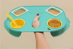 Great Idea. Feeding Tray for Twins to help mommy @Lauren Faske. I just had to pin this for you. Yay for twin stuff.
