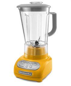 KitchenAid Yellow Pepper Blender, $130 (want it)